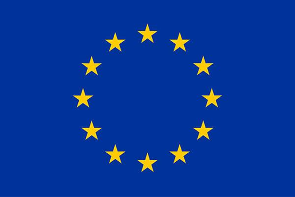 Flagge der Europäischen Union für Förderer der Historischen Mönchmühle