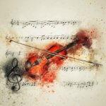Aquarelle einer Violine für Phoenix-Orchester-Akademie